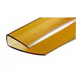 Профиль для поликарбоната торцевой 4 мм бронза